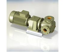 North Ridge FIG90CLH Close Coupled Internal Gear High Viscosity Food Pump with Extended Gear Length and 90° Flange Connections