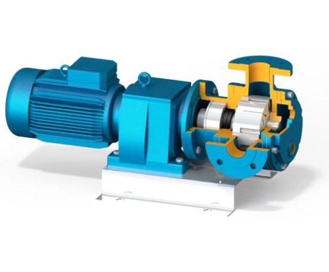 North Ridge FIG90CH Internal Gear Close Coupled Food Pump - 90° Flange Connections