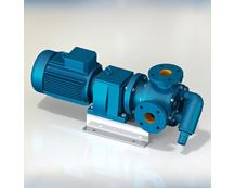North Ridge FIG90C Close Coupled Internal Gear Pump with 90° Flange Connections