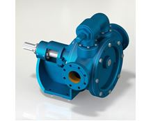 North Ridge FIG180D Internal Gear Pump with Enlarged Gear Diameter and In-Line Flange Connections