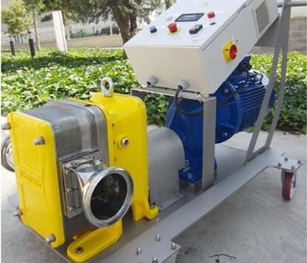 Mobile trolley mounted rotary lobe pump system from North Ridge Pumps