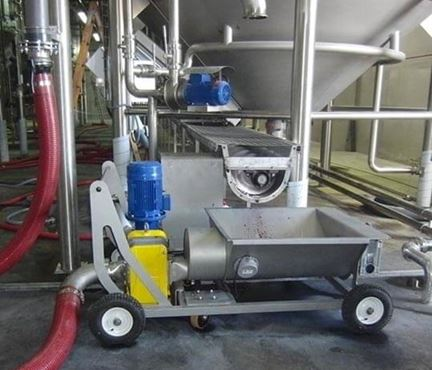 Trolley mounted rotary lobe pump from North Ridge Pumps