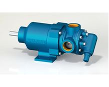 North Ridge MTIG90 Magnetically Coupled Internal Gear Pump with 90° Threaded Connections