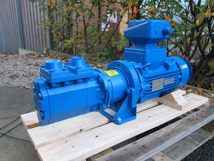 Atex Triple Screw Pump for Lube Oil Recirculation